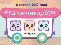 """Акция благотворительного Фонда """"Котодетки"""" -""""Вагончик добра"""""""